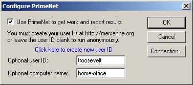 Configure Primenet